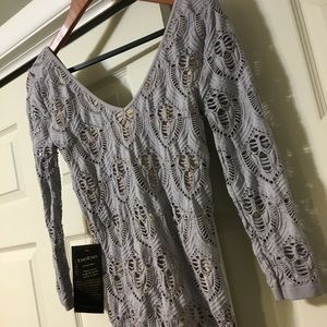 bebe Dresses - Bebe Women's Lace Double V Neck Dress NWT